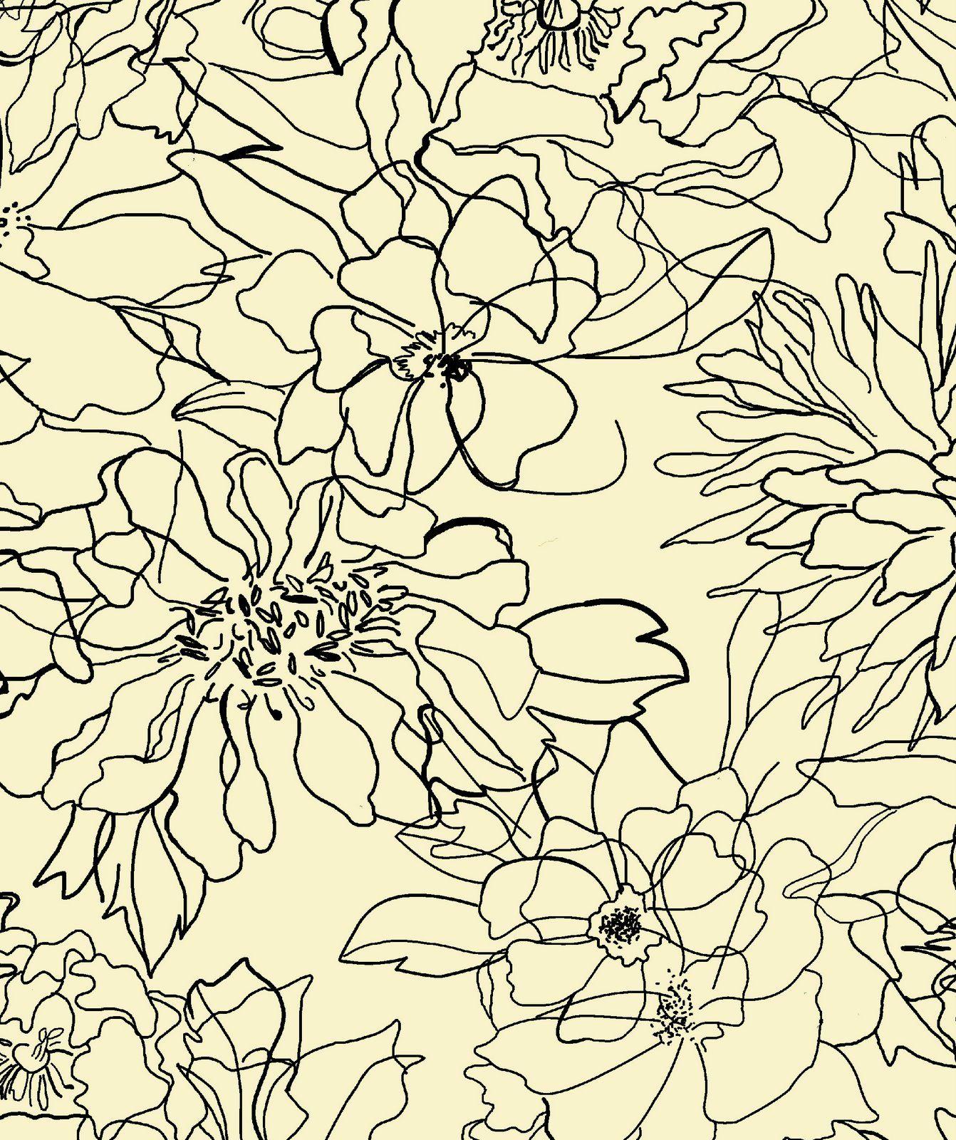 Floral Sketch textile print   Patterns Galore in 2019   Prints ... 4b251448ed2