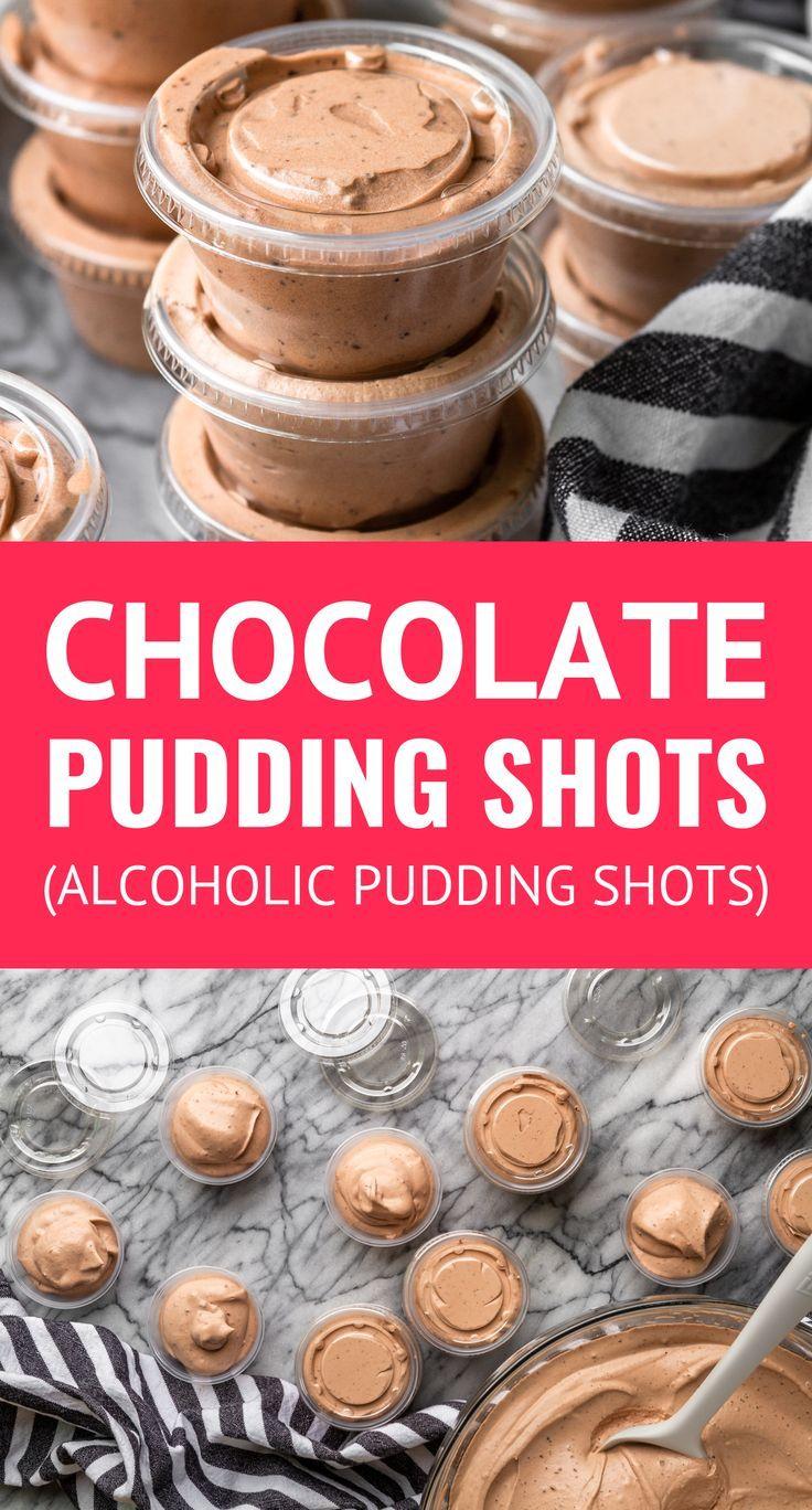 Chocolate Pudding Shots (Alcoholic Pudding Shots) – Unsophisticook
