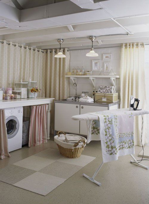 ordinary Unfinished Basement Bathroom Ideas Part - 13: Basement Laundry Room Makeover Ideas, How to Finish a Basement Laundry  Room, Spruce Up