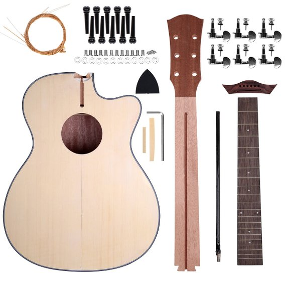Zimo Acoustic Steel Strings Guitar Make Your Own Basswood