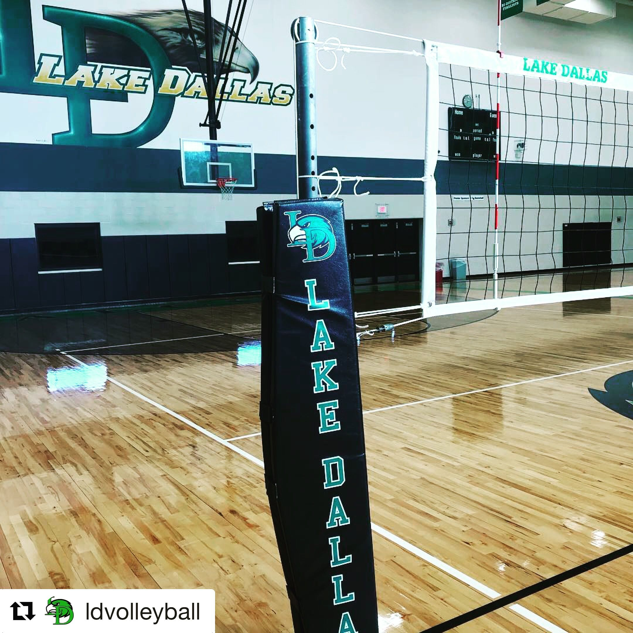Lake Dallas Custom Volleyball Pole Pad Lake Dallas Volleyball Equipment Volleyball Net