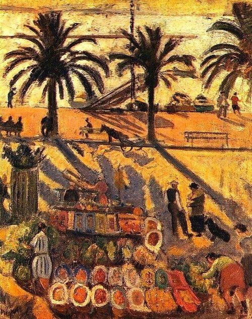 """Jean Puy """"Market in Sanary"""", 1925 (France, Fauvism, 20th cent.)"""