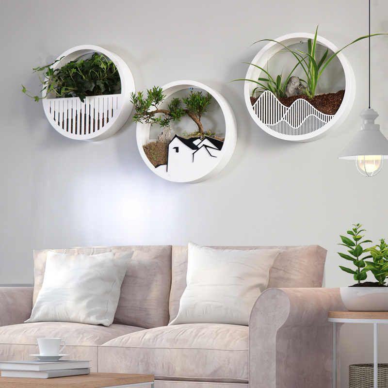 8 x Creative Glass Flower Pot Hanging Planter Wall Container Home Art Decor