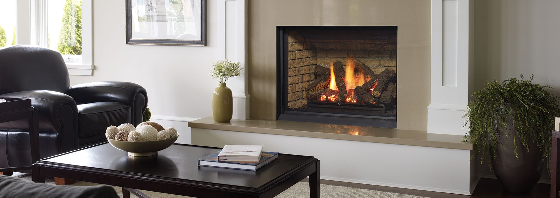 Learn how you can incorporate a traditional gas fireplace into your