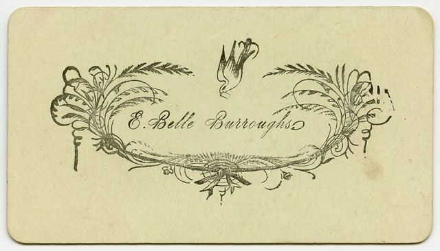 victorian calling cards - Google Search | VCA 126: Calling cards ...