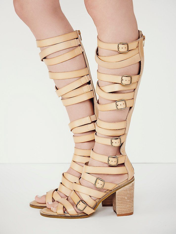 62a0d64c1fa faryl robin + Free People Vegan Shell Game Gladiator Sandals at Free People  Clothing Boutique