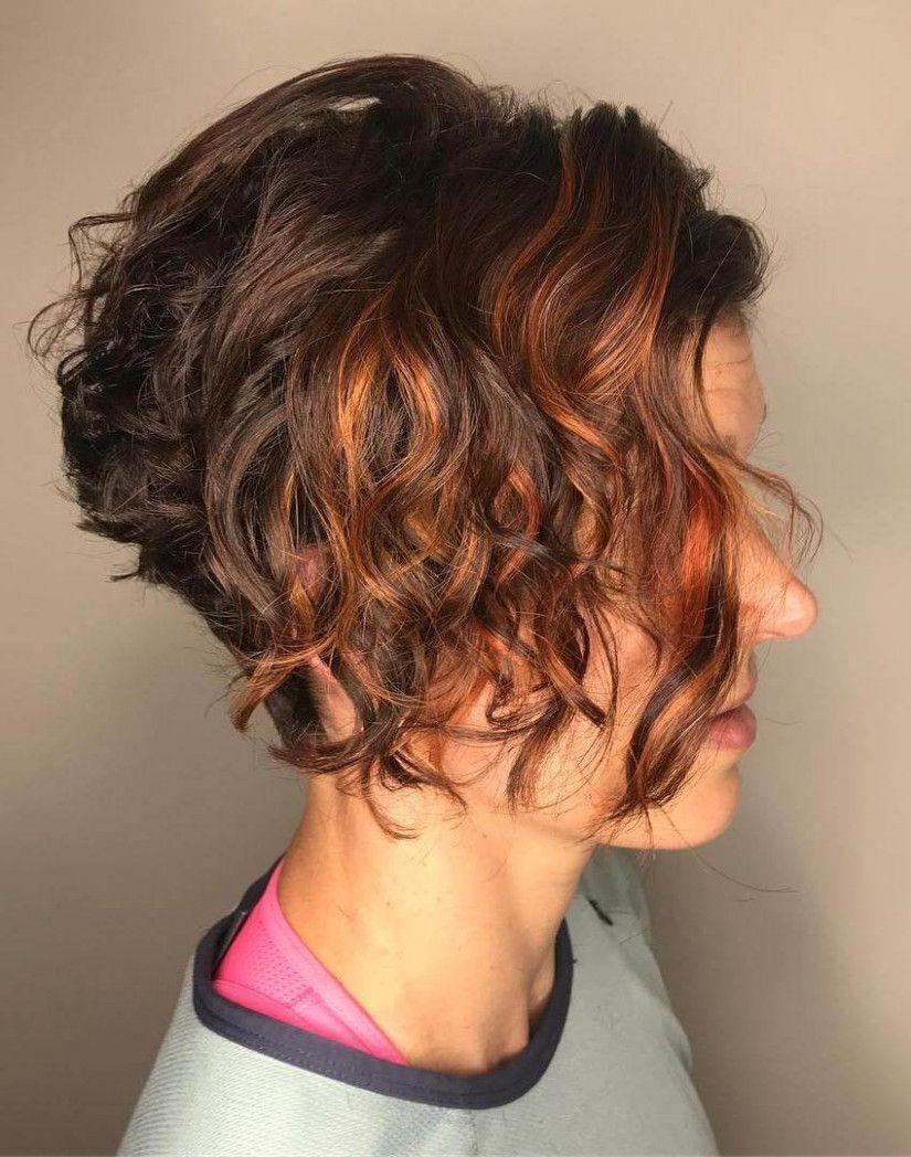 10 Kurze lockige Frisuren für Frauen Lebhaft  Lockige frisuren