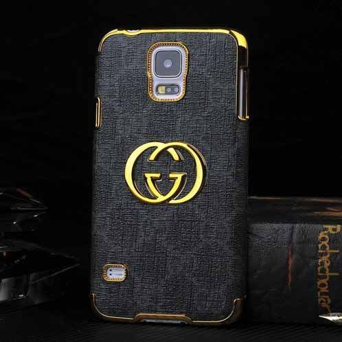 new product ab7c2 dadc0 Gucci Samsung Galaxy S5 Case Designer Leather Cover Black | What ...