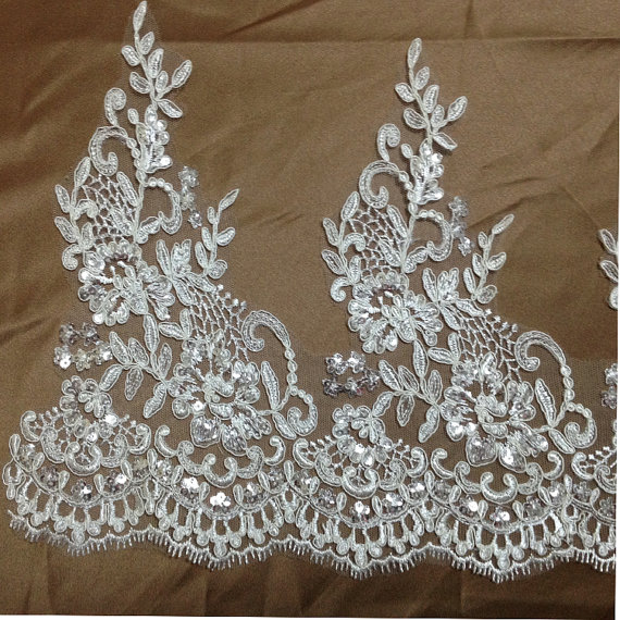 DIY Paillette Lace Trim for Bridal Veils, Peplum #dollunderware