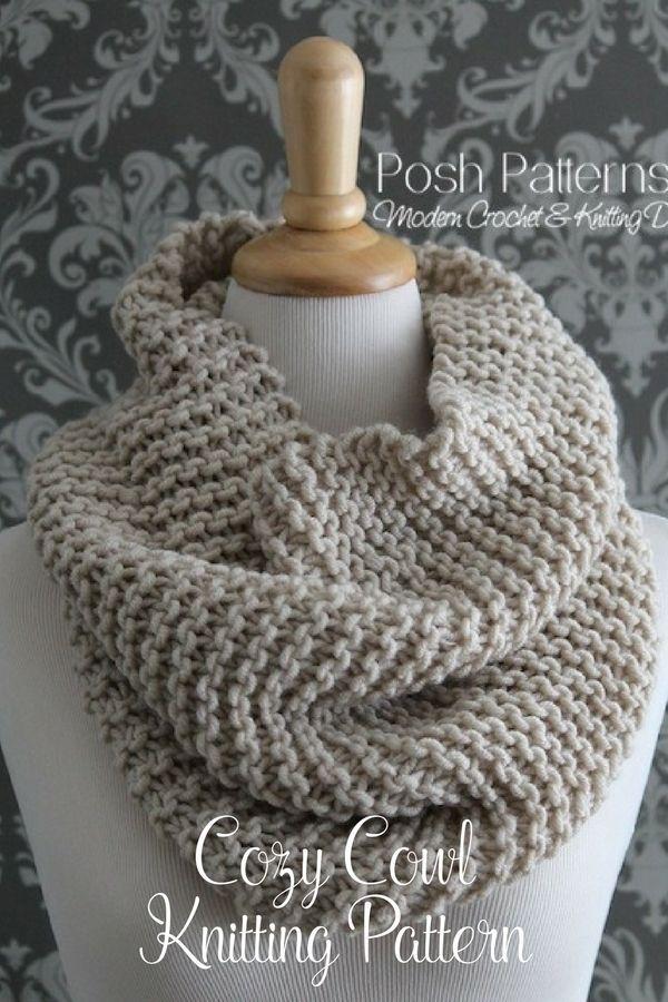 Knitting Pattern Knit Cowl Pattern Cowl Knitting Pattern