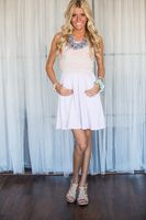 Pink Lace Top and Lilac Bottom Dress