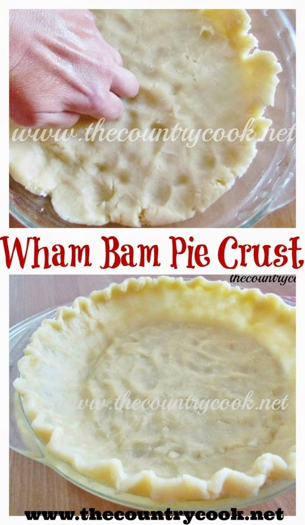 Wham Bam Pie Crust (use with any of your favorite pie recipe!)