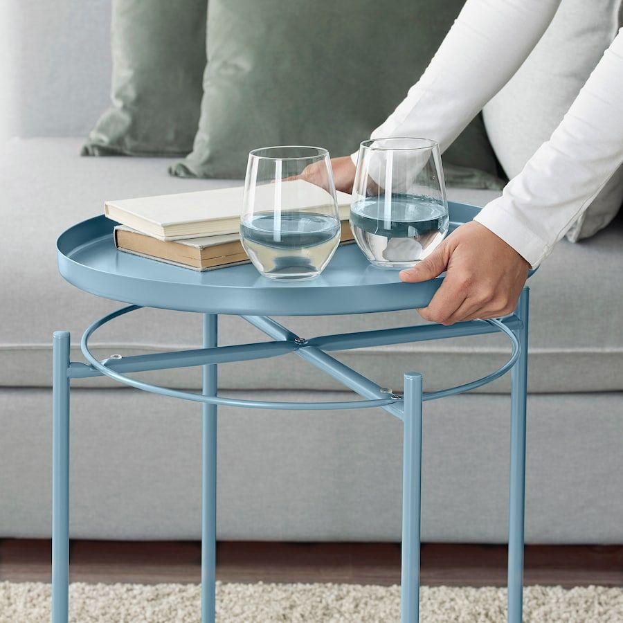 Gladom Tray Table Blue 17 1 2x20 5 8 Ikea Tray Table Ikea Side Table Ikea Lack Coffee Table [ 900 x 900 Pixel ]