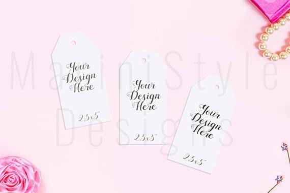 Gift Tag Mockup Thank You Card Mock Up Wedding Template