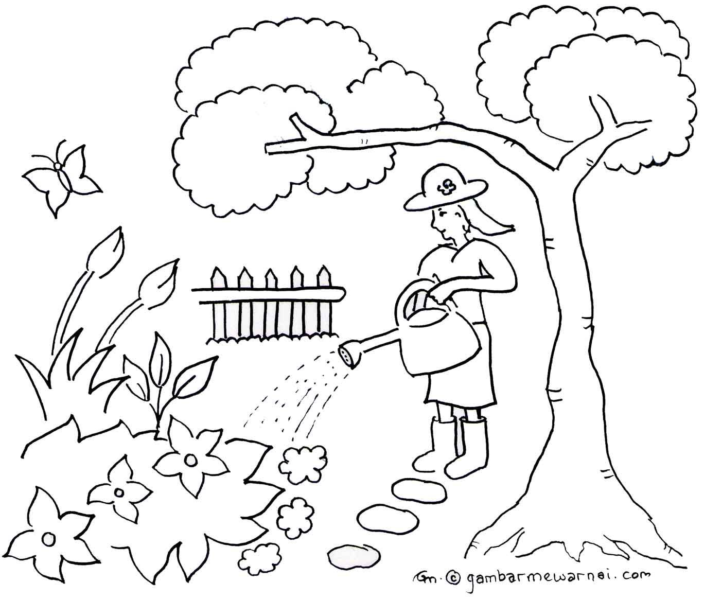 Mewarnai Taman Bunga Iman Coloring Pages For Kids Art Art For Kids