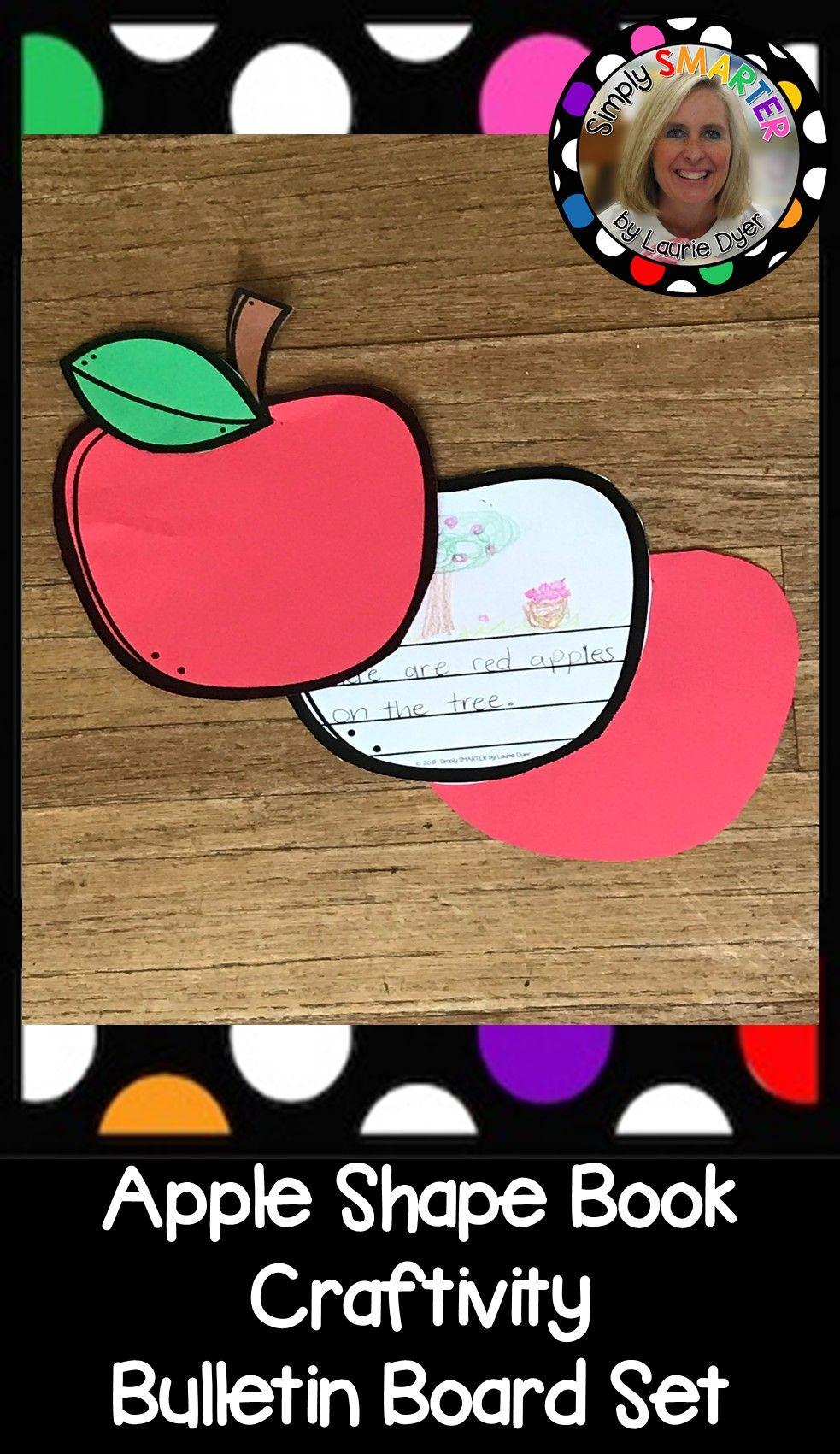 Apple Shape Book Writing Craftivity Bulletin Board Set