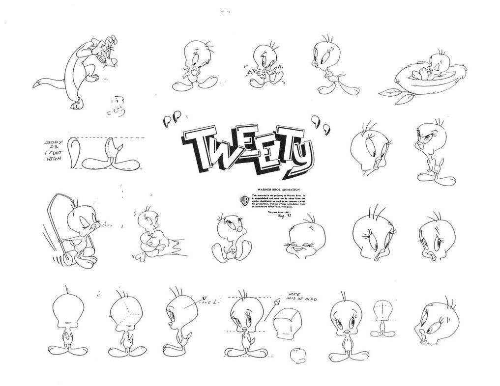 tweety pie model sheet pt 3 by guibor