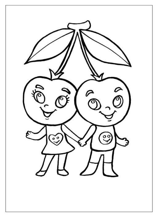 ausmalbilder für kinder kirsche 6  ausmalbilder kinder
