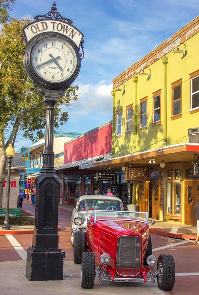 Old Town, Kissimmee, Florida is a walking district full of shops ...