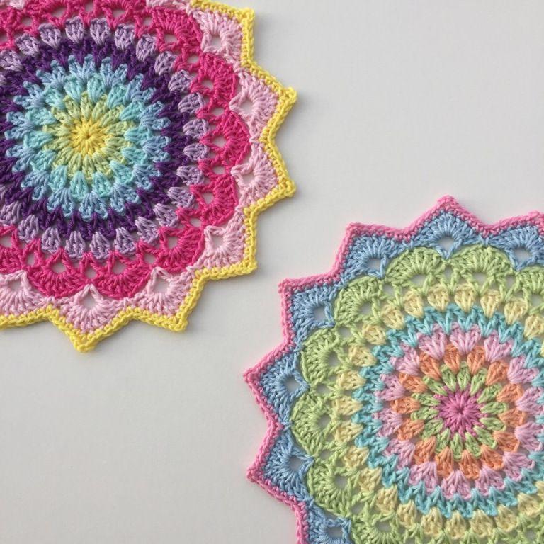 Magnolia Mandala. – Crochet Millan | Dishcloths Coasters & doilies ...
