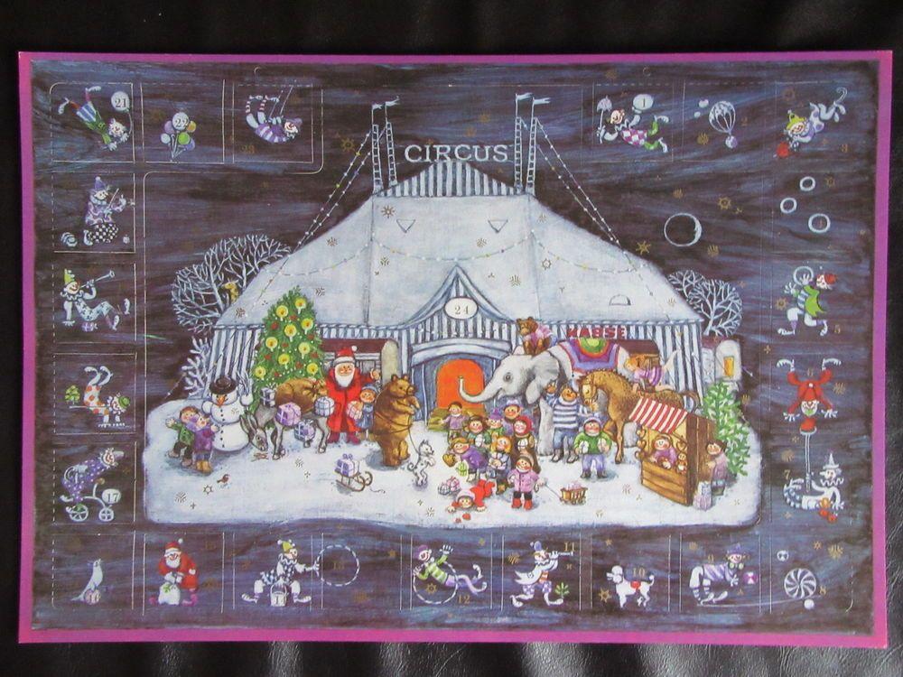 ddr weihnachtskalender adventskalender im zirkus neuwertig ddr gdr. Black Bedroom Furniture Sets. Home Design Ideas