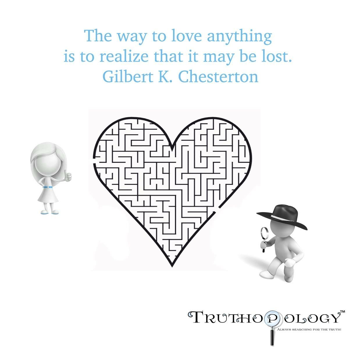 The Way Gilbertchesterton Love Heart Maze Lost Truth Search