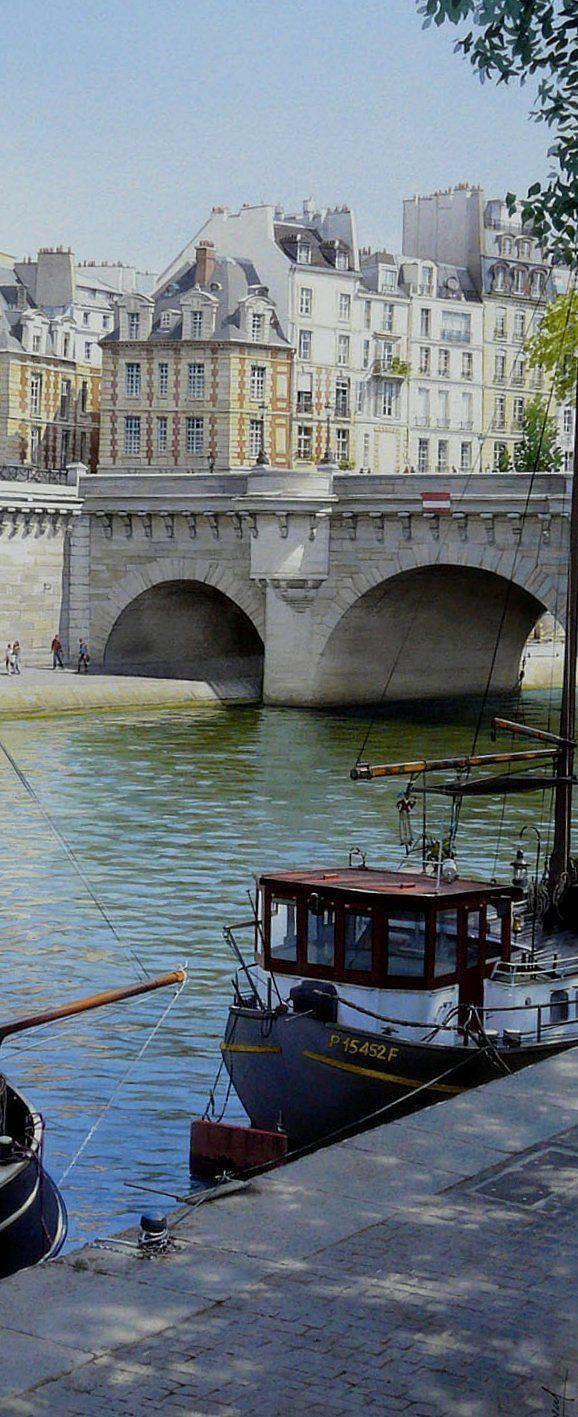 La place Dauphine et le pont Neuf (Thierry Duval )