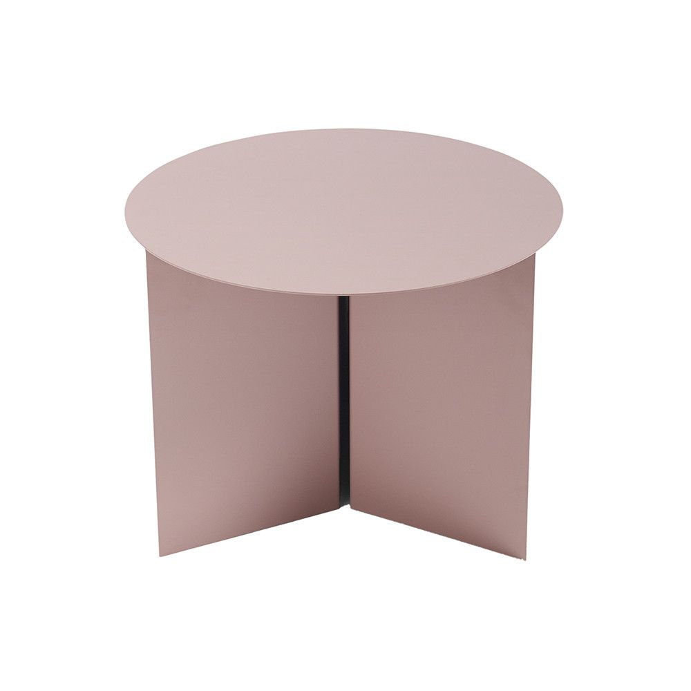Couchtisch Margarita Hay Slit Table Round Red Bedroom
