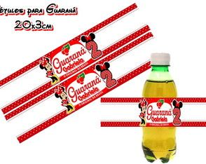 Rótulo Guaraná Minnie