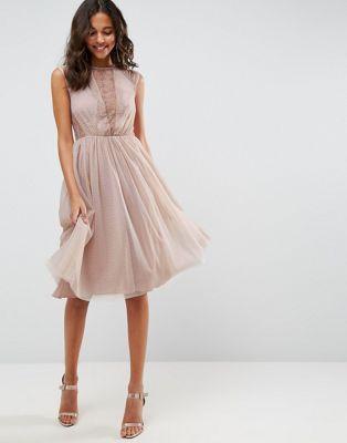 Lace Tulle Cap Sleeve Midi Dress | Pinterest | Tüll, Plissee und Kleider