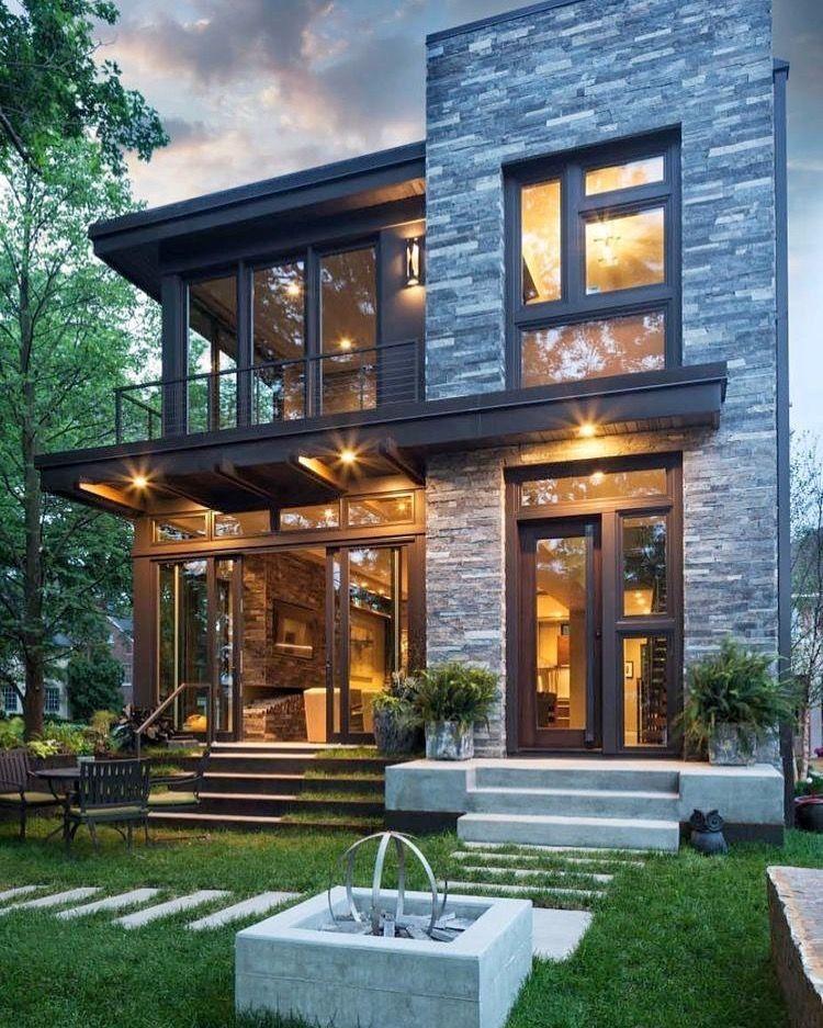 Modernes Haus-Fassaden-Ausgangsdesign #architektur