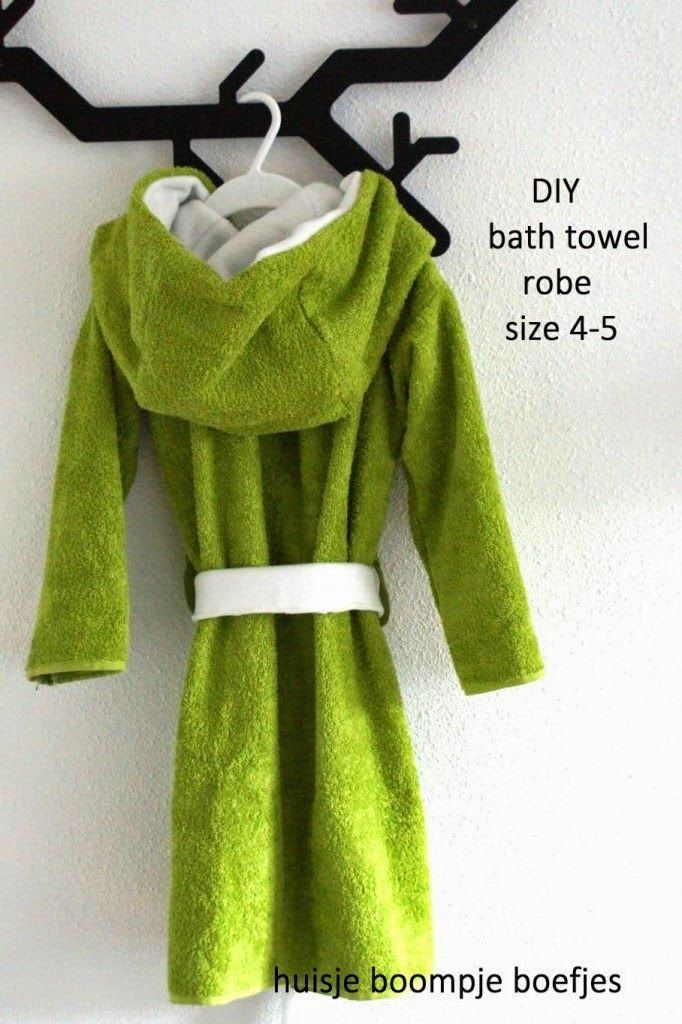 1bd95f189 DIY bath towel robe