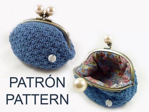 Patrón de monedero a crochet con forro   monederos   Pinterest ...