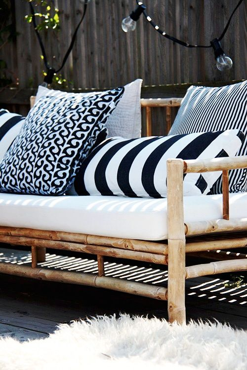 Chic Black And White Outdoor Spaces Patio Inspiration Terrace