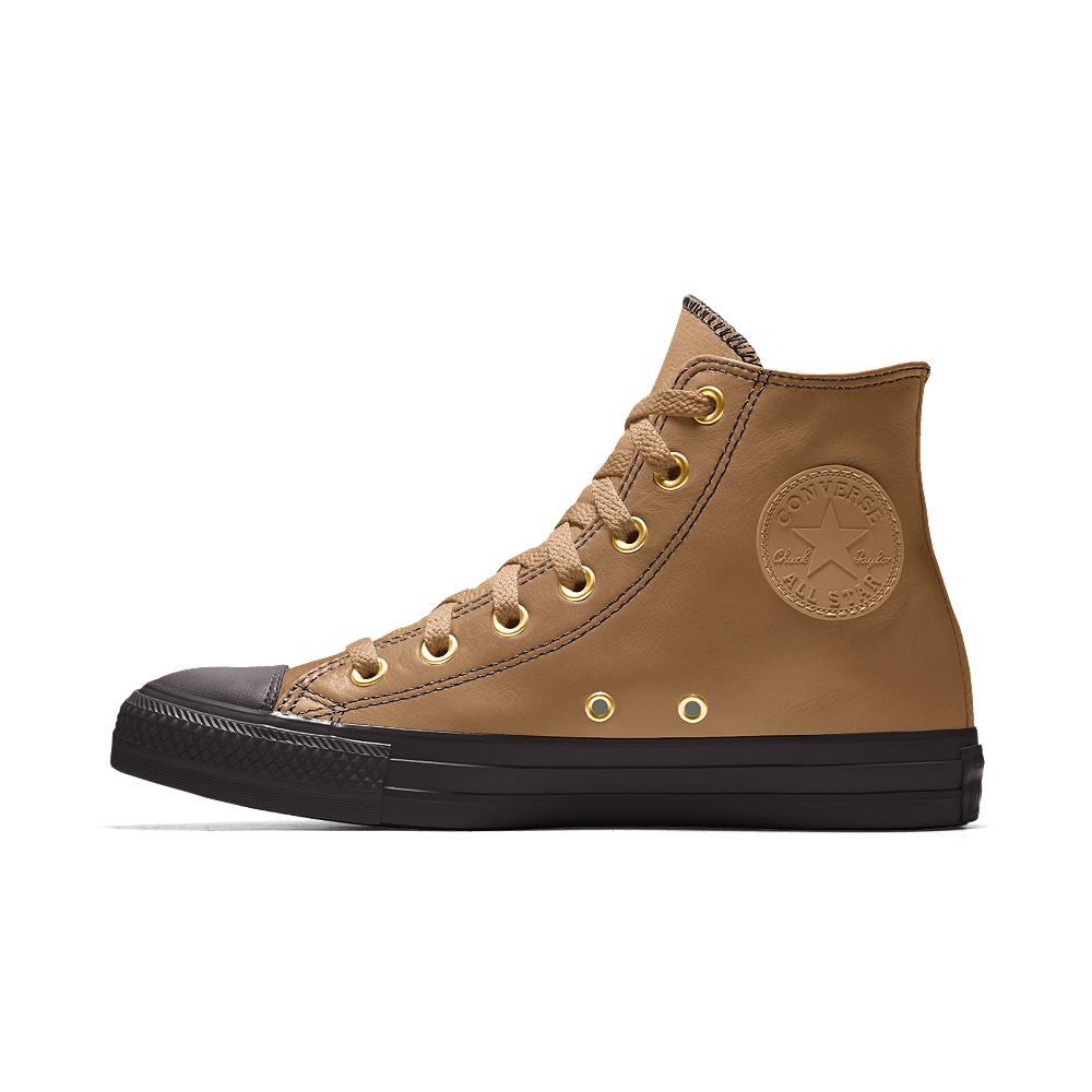 e8d8e65383b4 Converse Custom Chuck Taylor Premium Leather High Top Shoe Size 6 (Khaki)