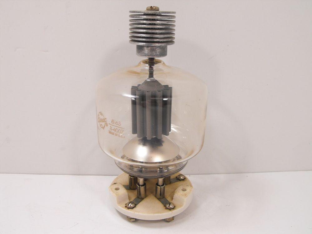 Eimac 8163 3-400Z Triode Power Output Tube w/ Socket for Ham