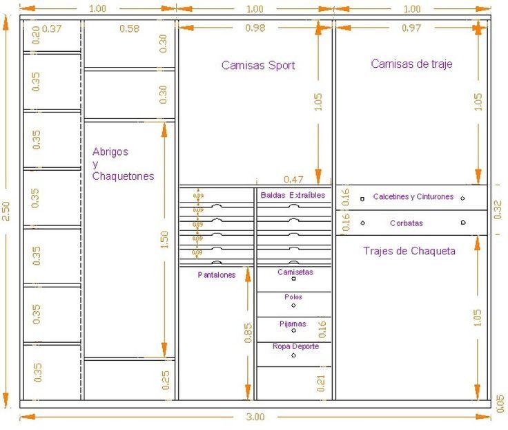 Medida ropa armario buscar con google home closet for Medidas de zapateras