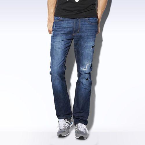 Straight Denim Jeans - blau