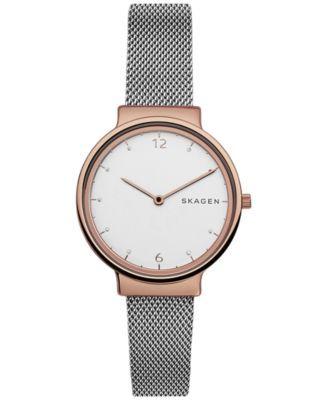 f2f82e8b7820 Skagen Women s Ancher Two-Tone Stainless Steel Mesh Bracelet Watch 34mm  SKW2616