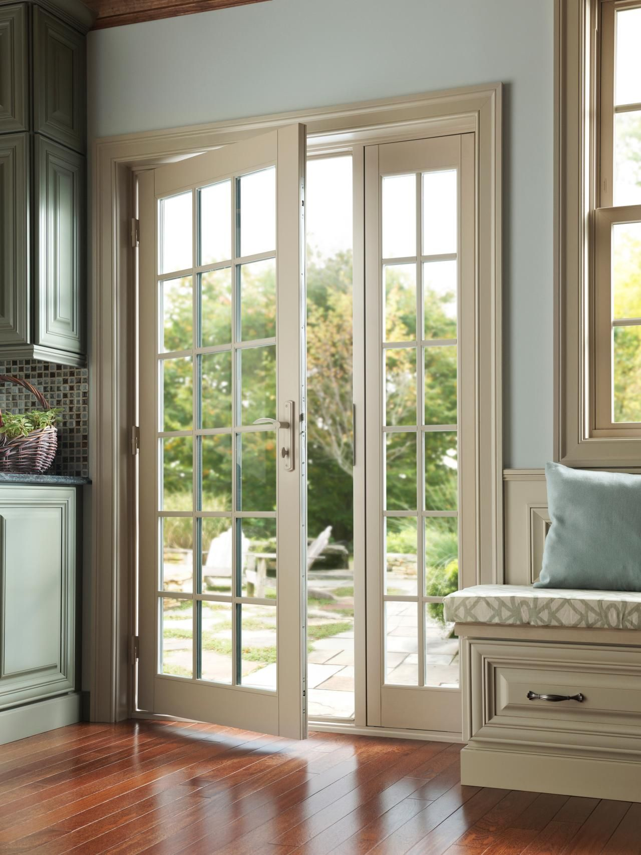 create a simple and elegant entryway to your outdoor space with sliding patio doors