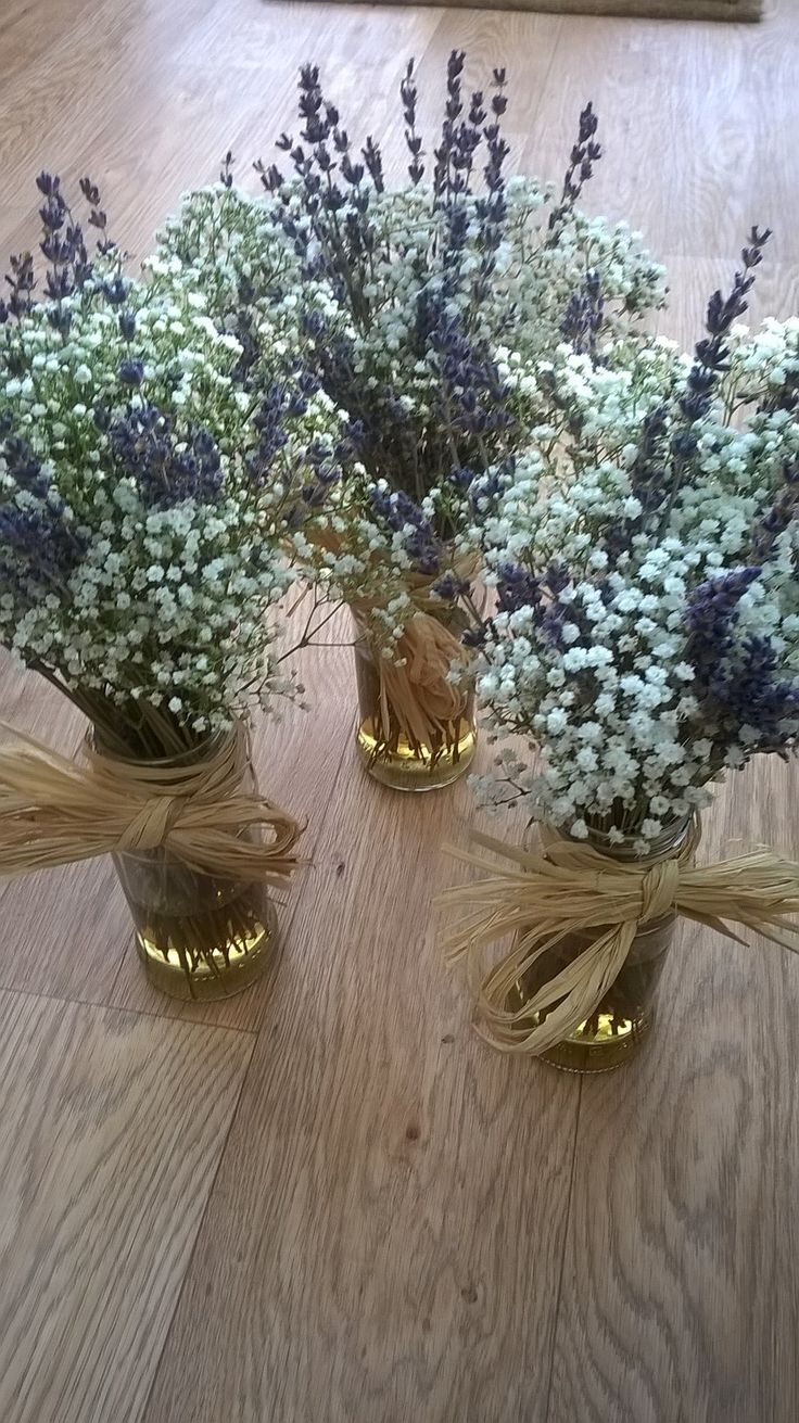 Simple lavender vases is part of Lavendar wedding -