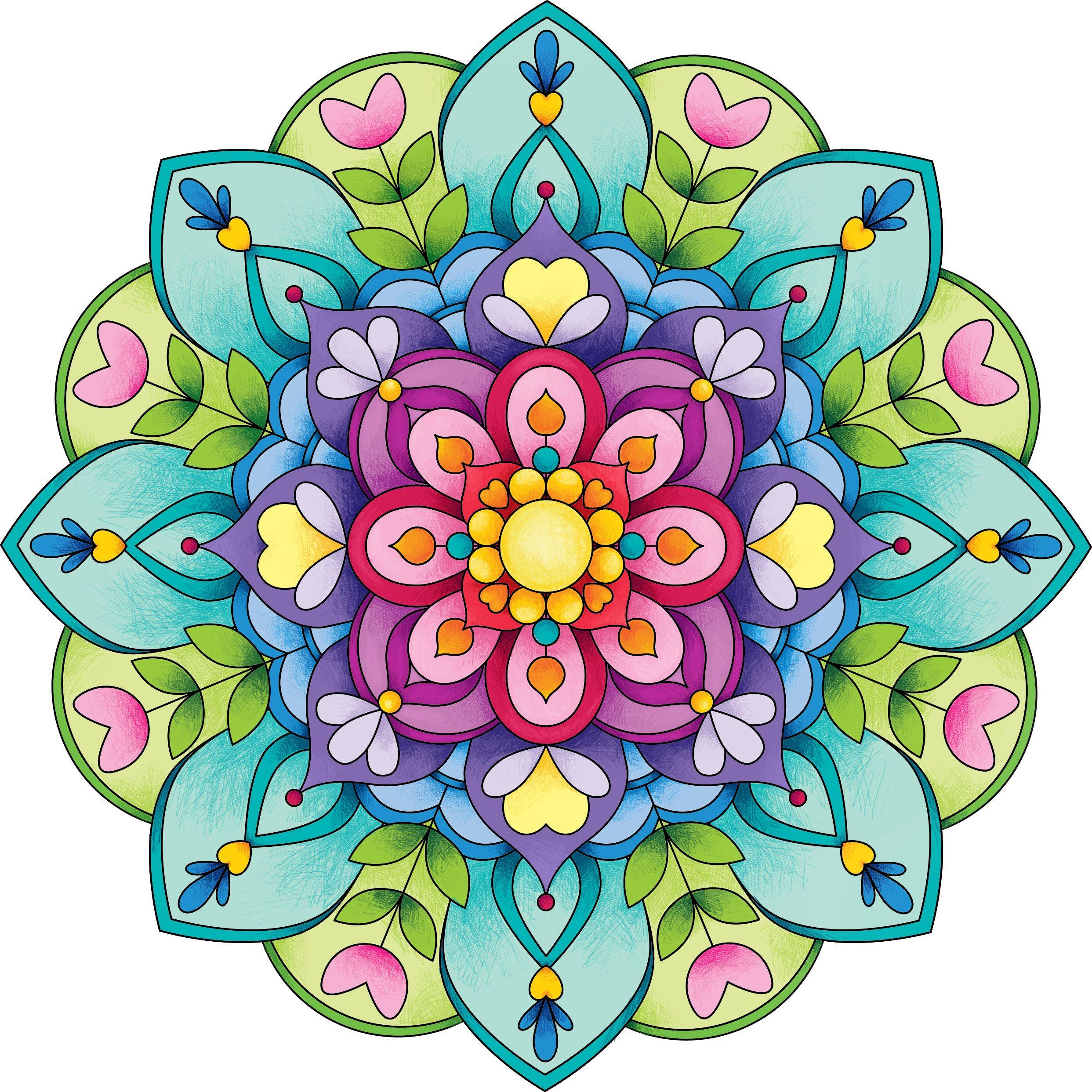 Mandalas mundo rosa zen tangle doodles pinterest - Colores para mandalas ...