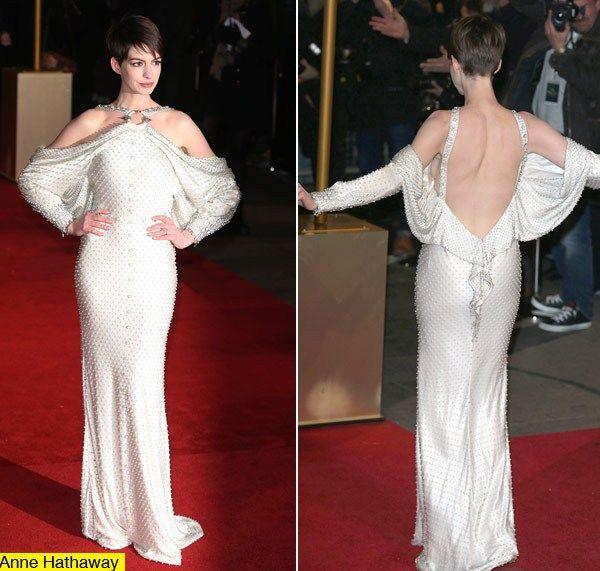 Anne Hathaway Gown: Anne Hathaway Les Miserables London Premiere