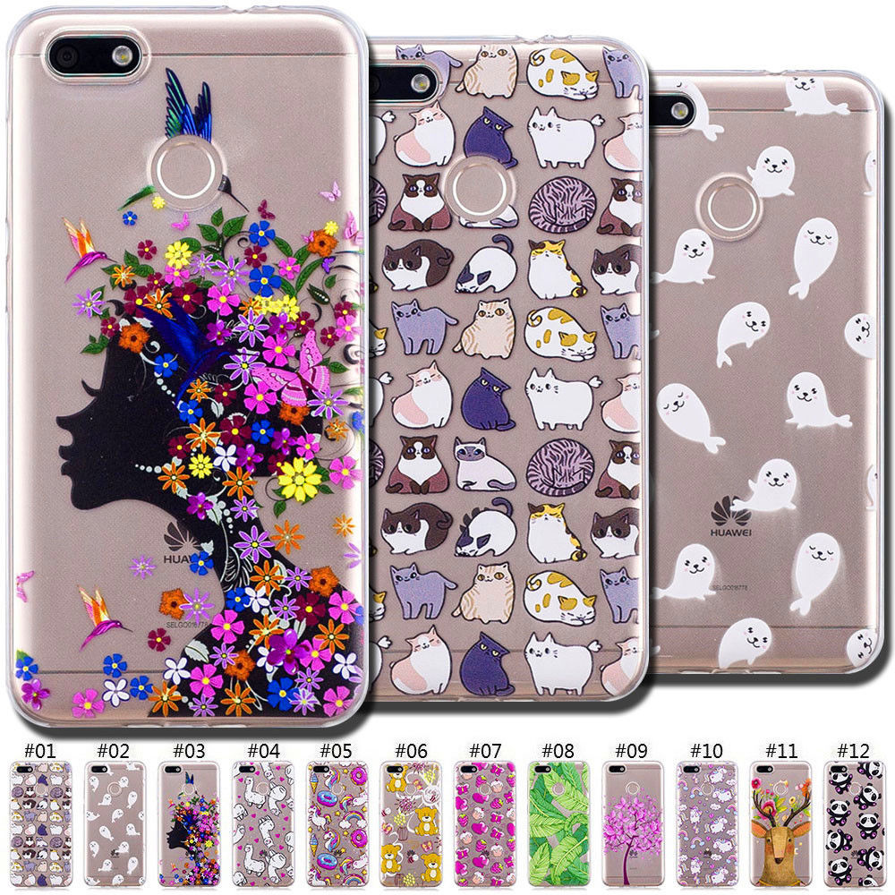new style f06bc 7c942 $1.43 - Pattern Soft Back Rubber Tpu Cute Case Cover Skin For Huawei ...
