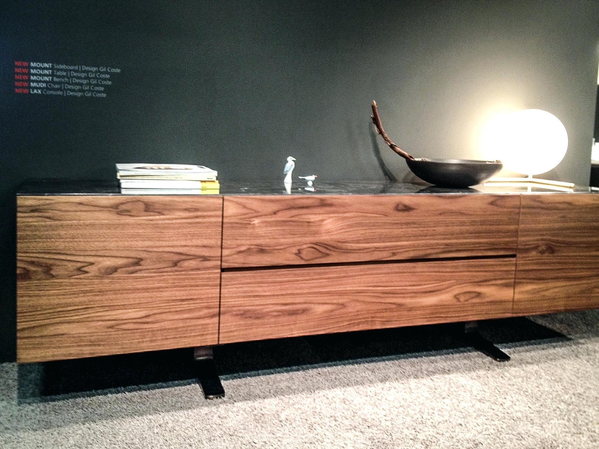 Sideboard Echtholz Design Holz Stein More Mount Aus Massivem