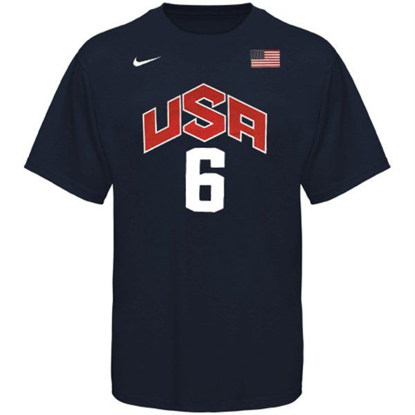 competitive price 263d2 70dd9 Nike LeBron James USA Basketball T-Shirt | USA Basketball in ...