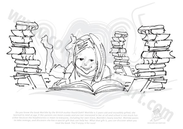 roald dahl matilda coloring pages - photo#3