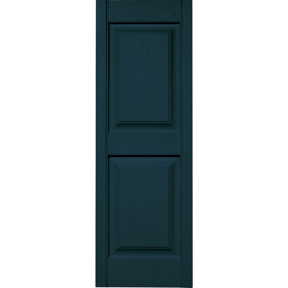Perfect Shutters Premier Louver Exterior Decorative Shutter Black 15 x 43