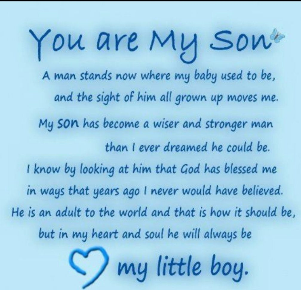 Son Birthday Quotes, My Son Quotes