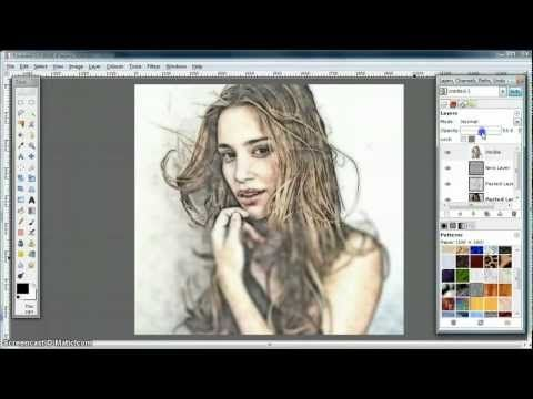Gimp Tutorial Turn Photo Into Soft Colour Pencil Drawing Gimp Tutorial Gimp Photo Editing Pencil Drawings